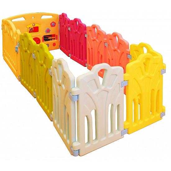 حاجز الاطفال بلاستيك من 11 قطعة ملون - سور للاطفال