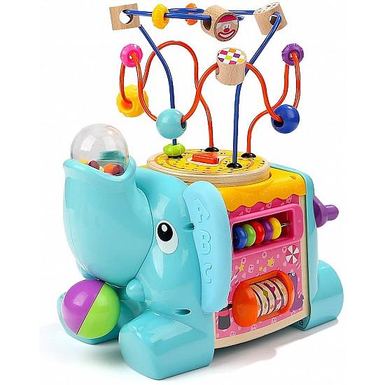 5 In 1 Elephant Activity Cube