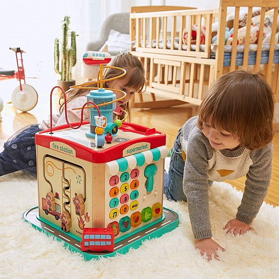 Bus City Activity Cube
