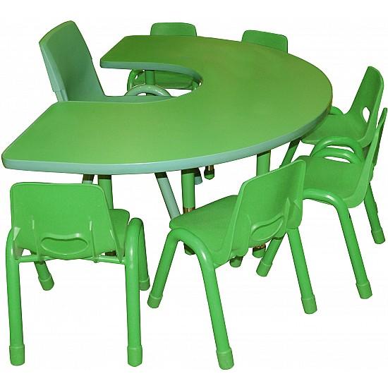 طاولة حرف U (وسط)  بدون كراسي
