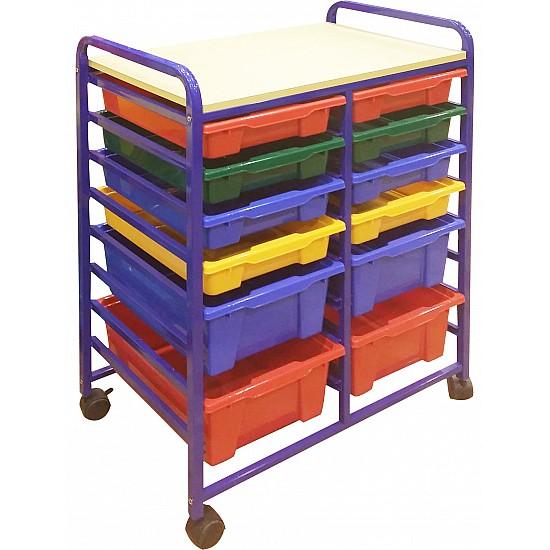 12-Tray Mobile Storage Organizer