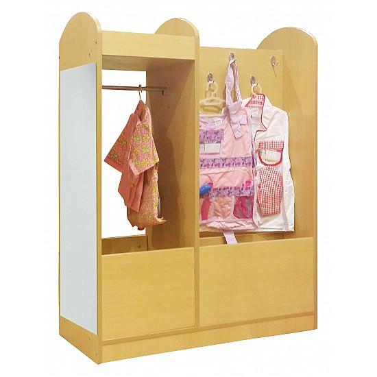 Wardrobe Closet with Dress Up Mirror