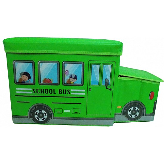 Bus shaped storage box for toys