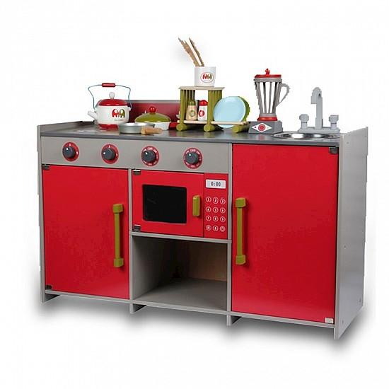 مطبخ اطفال خشبي مع الادوات مطبخ اوربي بزل للالعاب والوسائل التعليمية